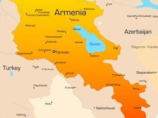 Karte von Armenien