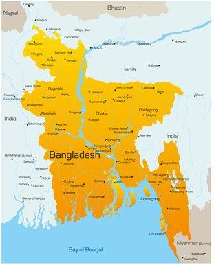 Karte von Bangladesh