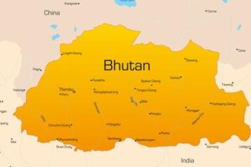 Karte von Bhutan