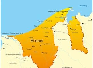 Karte von Brunei