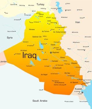 Karte vom Irak