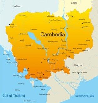 Kambodscha Karte.Kambodscha