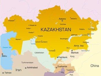 Karte von Kasachstan