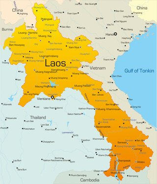 Karte von Laos
