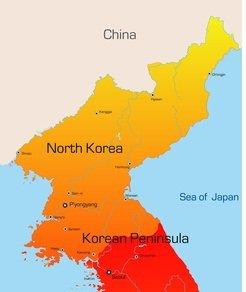 Karte von Nordkorea