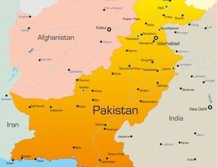 Karte von Pakistan