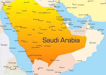 Karte von Saudi Arabien