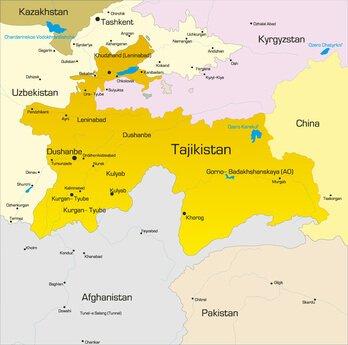 Karte von Tadschikistan