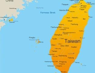 Karte von Taiwan