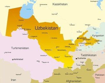Karte von Usbekistan