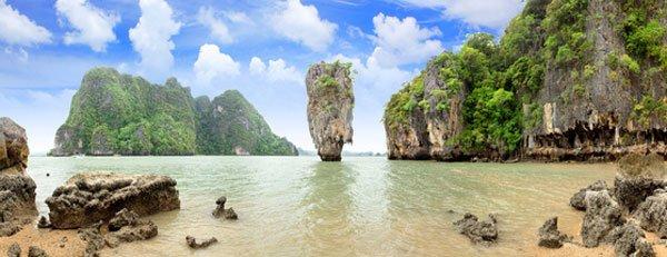 Thailand - James Bond Felsen auf Phang Nga
