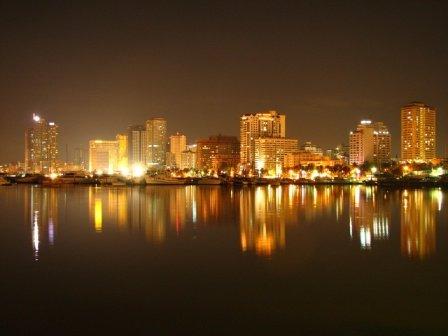 Blick auf Manila (Philippinen)