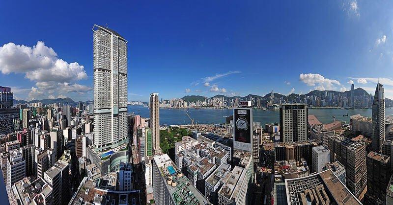 Tolles Panorama-Bild von Hongkong