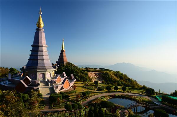 Pagoden auf Doi Inthanon - Thailand