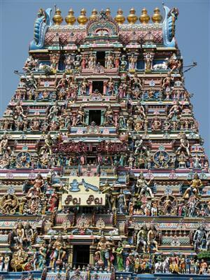 Kapaleeswarar-Tempel in Chennai - Indien
