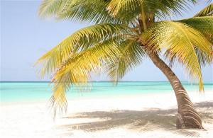 Strand auf der Hotelinsel Kuredu auf den Malediven
