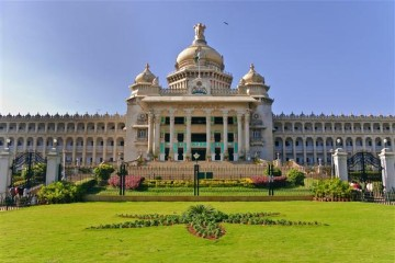 Vidhana Soudha - Palast des Volkes, Bangalore - Indien