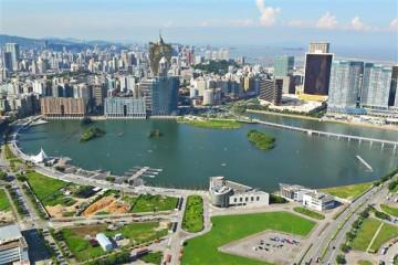 Blick auf Macao - China