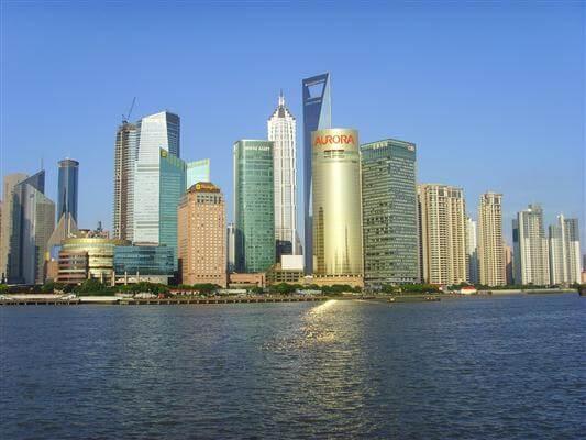 Blick auf die Skyline von Shanghai