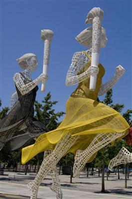 Olympia Skulpturen in Peking - China