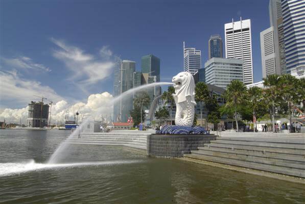 Merlion Statue im Merlion Park - Singapur