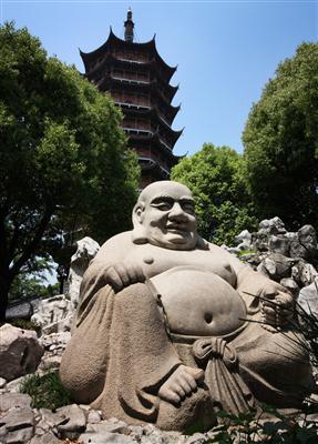 Buddha Statue und Pagode in Suzhou