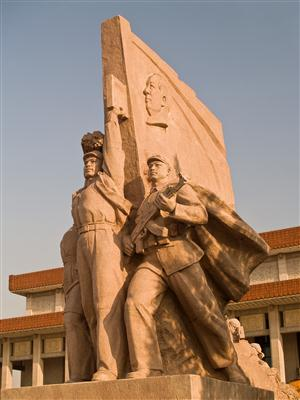 Arbeiterstatue Tianan´men Platz - China