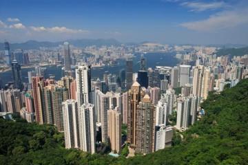Blick auf Hong Kong und Victoria Hafen - Hong Kong