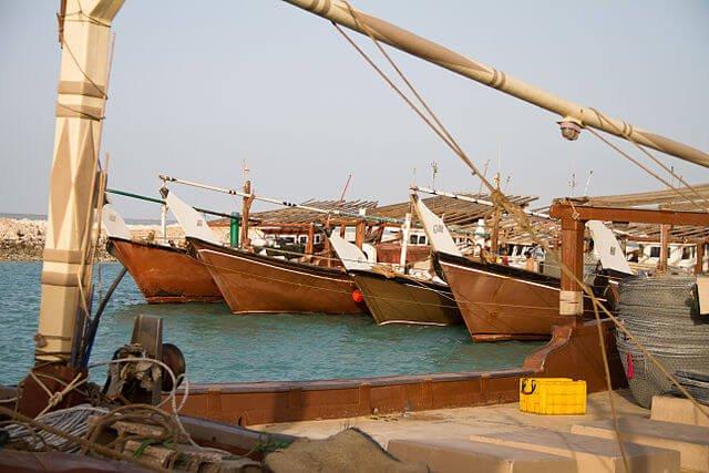 Der Hafen von Al Ruwais