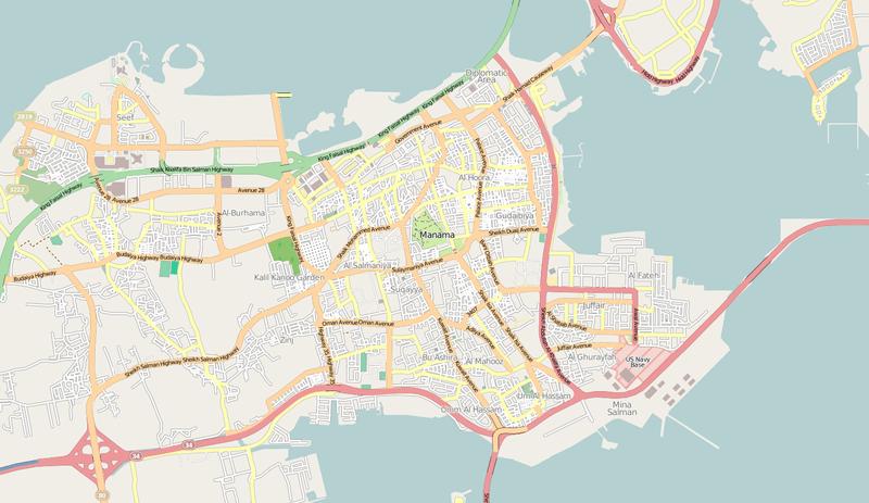 Karte von Manama