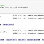 Flug Frankfurt-Bangkok