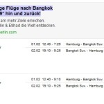 Flug Hamburg-Bangkok