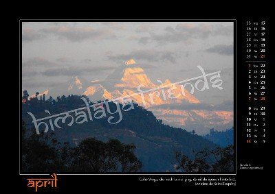 Nepal Kalender der Himalaya Friends - April