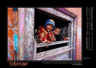 Nepal Kalender der Himalaya Friends - Februar