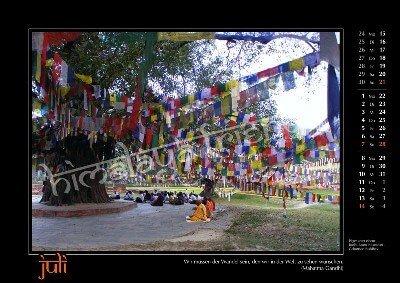 Nepal Kalender der Himalaya Friends - Juli