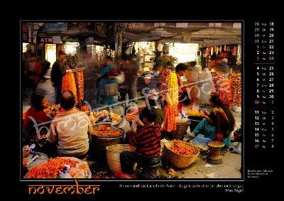 Nepal Kalender der Himalaya Friends - November