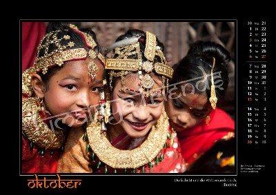 Nepal Kalender der Himalaya Friends - Oktober