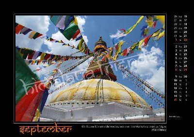 Nepal Kalender der Himalaya Friends - September