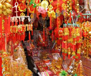 Deko für das Tet-Fest in Vietnam