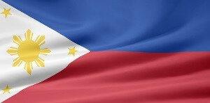 Die Flagge der Philippinen