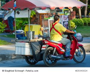 Mobile Garküche in Thailand