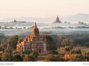 Sunrise at Bagan in Myanmar