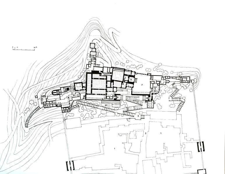 Potala-Palast - ein Lageplan