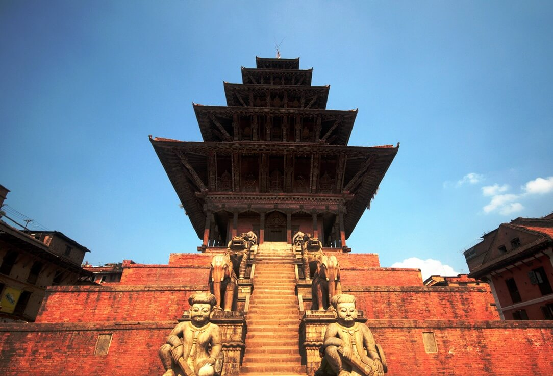 Der Nyatapola-Tempel in Bhaktapur