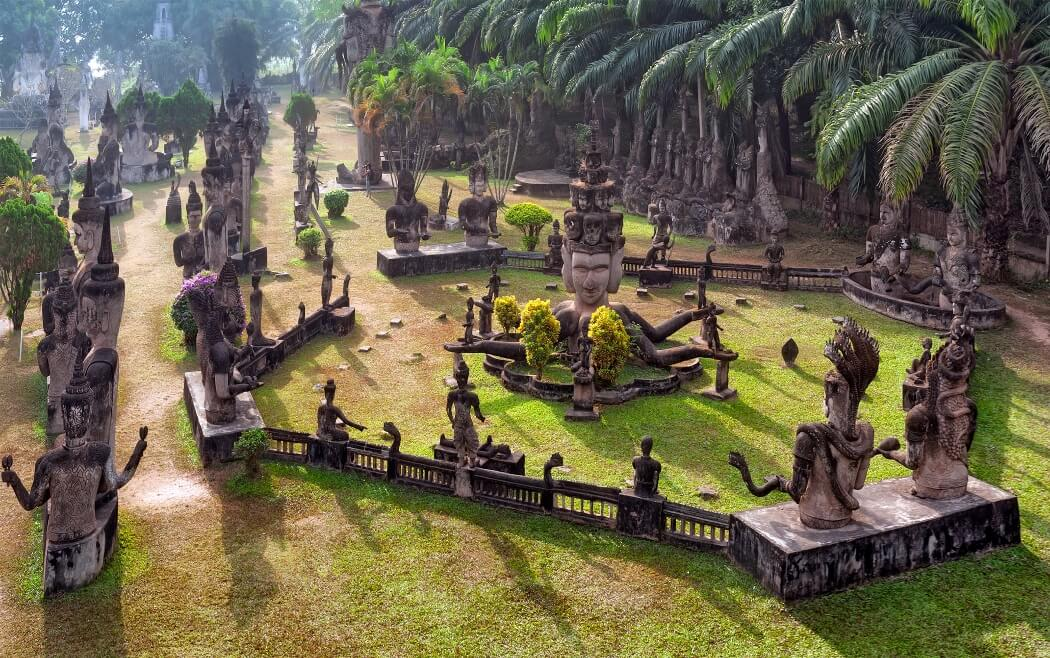 Im Xieng Khuan Buddha Park bei Vientiane