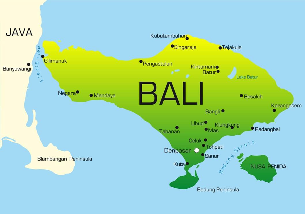Landkarte von Bali