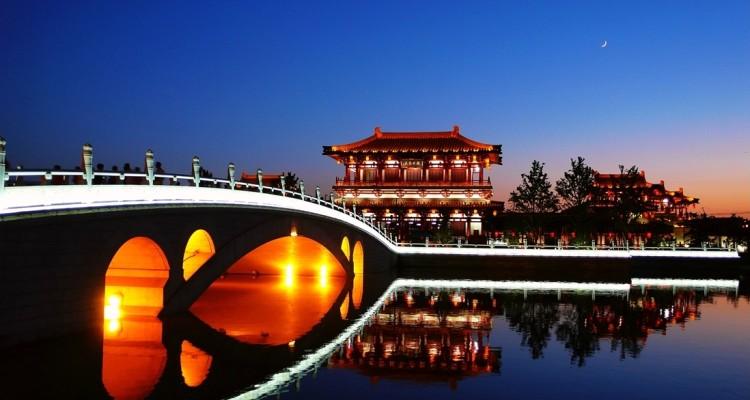 Xian (China) bei Nacht