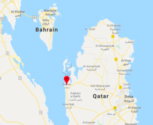 map of dukhan qatar