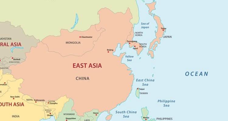 Sri Lanka Karte Zum Drucken.Asien Länder Karte Regionen Hauptstädte In Der übersicht