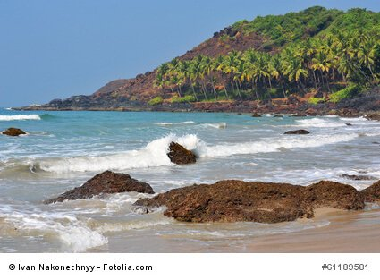 Strandabschnitt in Goa